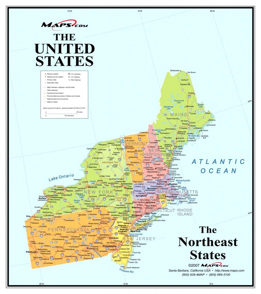 Printable Map Northeast Region Us America Pathwayto Me With Of North - Printable Map Of North Eastern United States