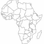 Printable Map Of Africa | Africa World Regional Blank Printable Map   Blank Outline Map Of Africa Printable