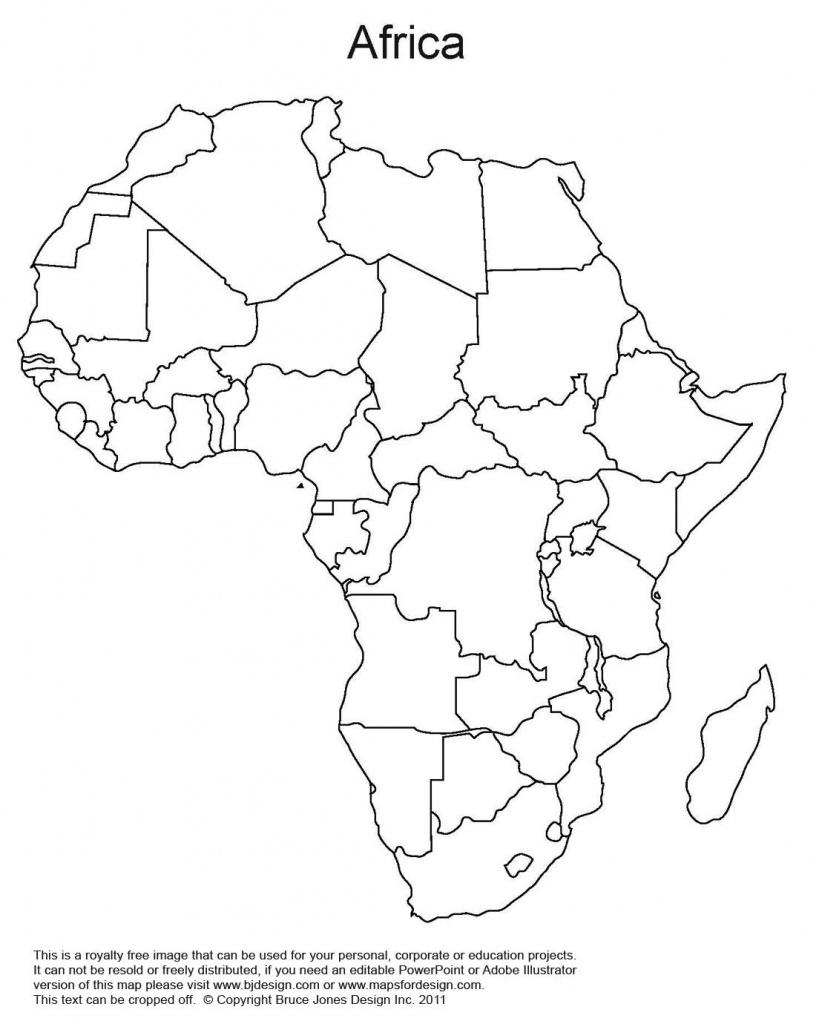 Printable Map Of Africa | Africa World Regional Blank Printable Map - Blank Political Map Of Africa Printable