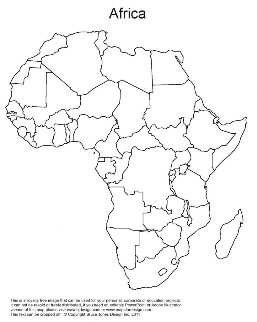 Printable Map Of Africa | Africa World Regional Blank Printable Map - Free Printable Political Map Of Africa