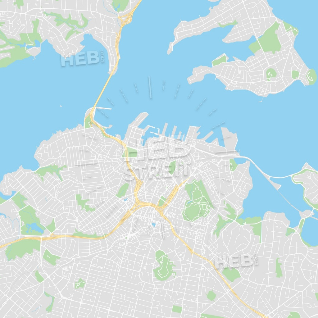 Printable Map Of Auckland, New Zealand - Printable Map Of Auckland