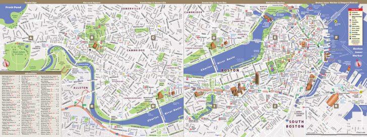 Printable Map Of Downtown Boston
