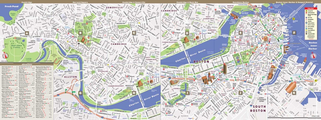Printable Map Of Boston | World Map Photos And Images - Printable Map Of Downtown Boston