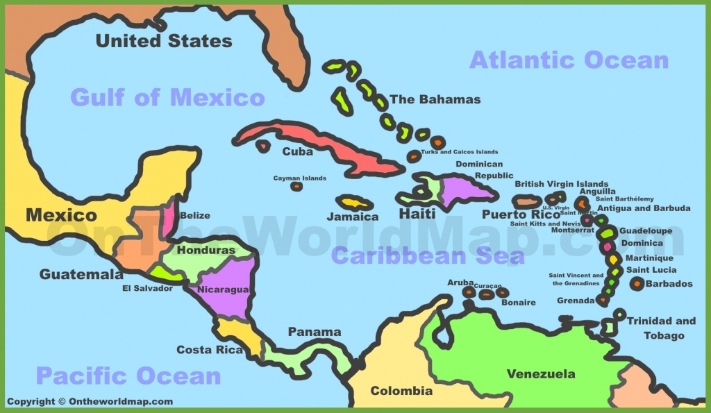 Printable Map Of Caribbean Islands And Travel Information | Download - Printable Map Of The Caribbean