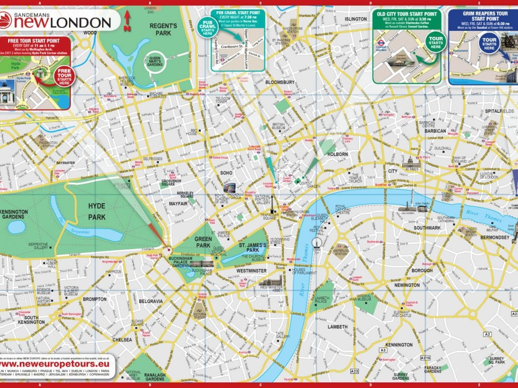 Printable Map Of Central London Download Printable Map Central - London Street Map Printable