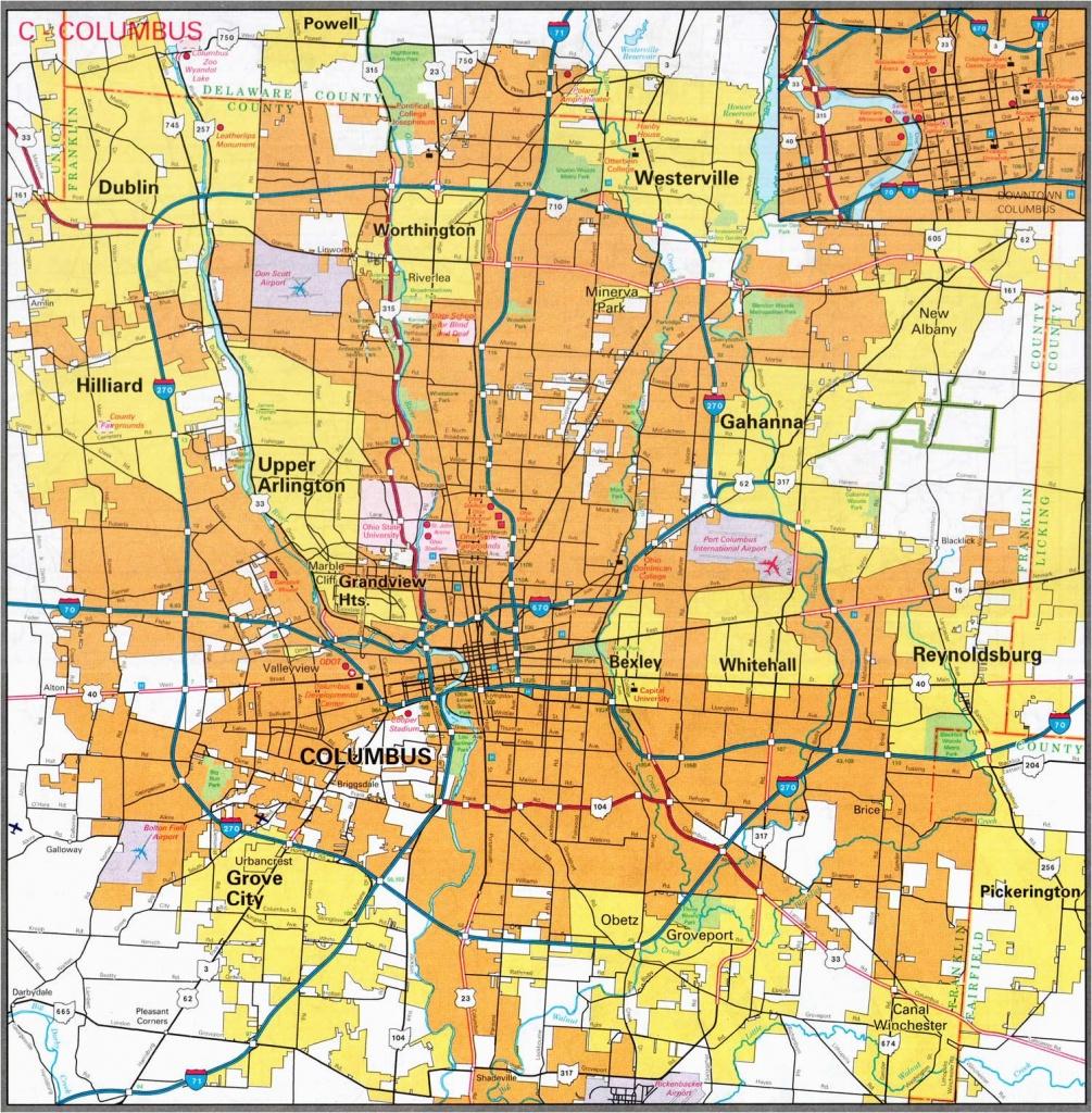 Printable Map Of Columbus Ohio City Map Sites Perry Castaa Eda Map - Printable Map Of Columbus Ohio