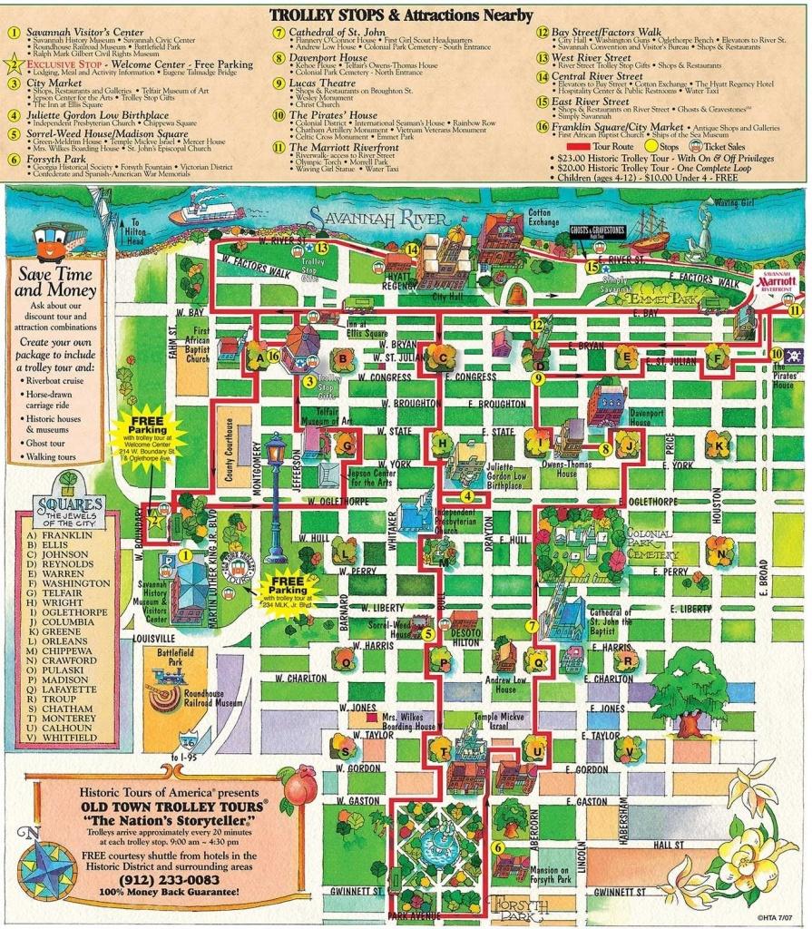 Printable Map Of Historic Savannah | Reasons Why Savannah Is The - Printable Map Of Savannah Ga