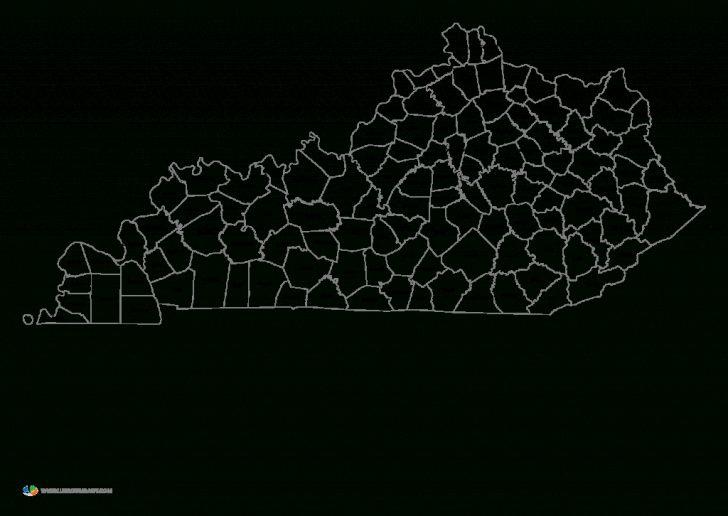 Printable Map Of Kentucky Counties