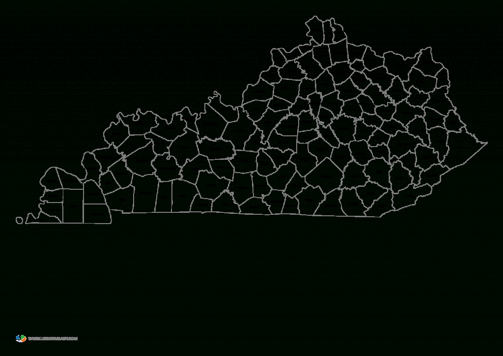Printable Map Of Kentucky Counties And Travel Information   Download - Printable Map Of Kentucky Counties