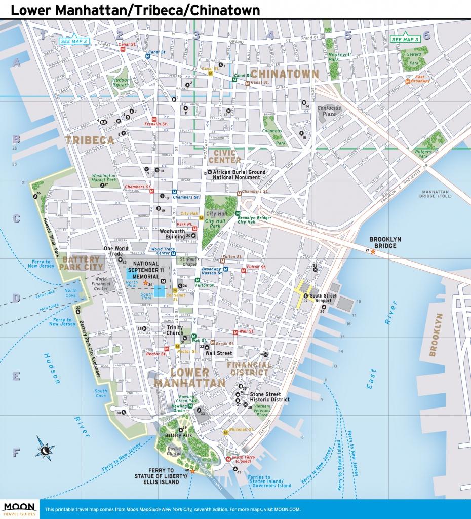 Printable Map Of Manhattan Nyc Printable Travel Maps Of New York - Printable Map Of Manhattan Nyc
