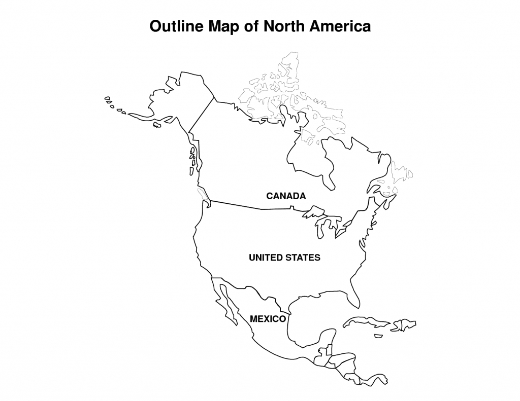 Printable Map Of North America | Pic Outline Map Of North America - Printable Map Of America