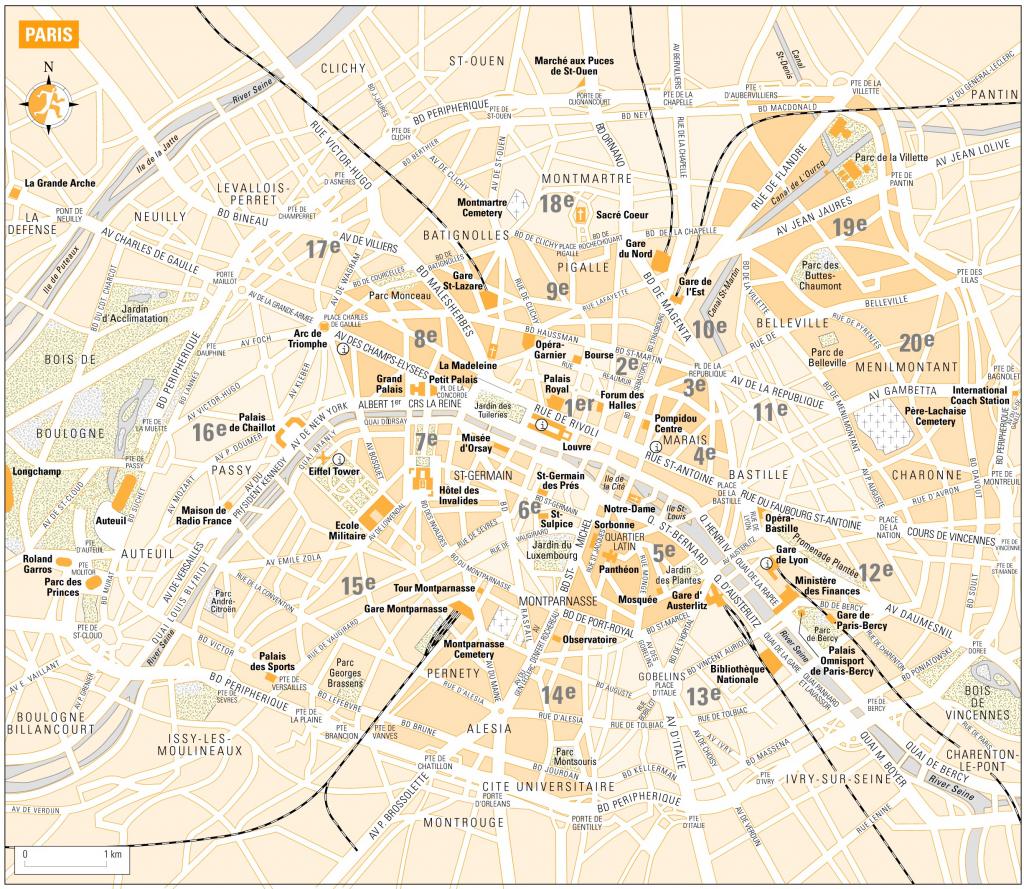 Printable Map Of Paris France | D1Softball - Printable Map Of Paris