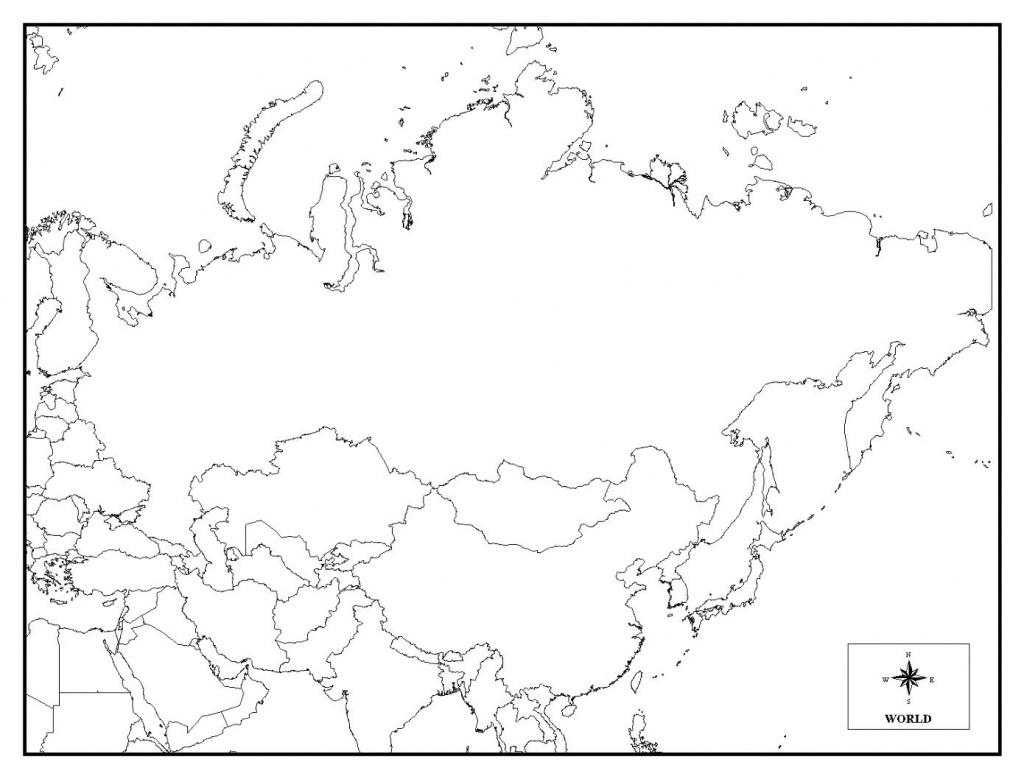 Printable Map Of Russia - Coloring Home - Blank Russia Map Printable