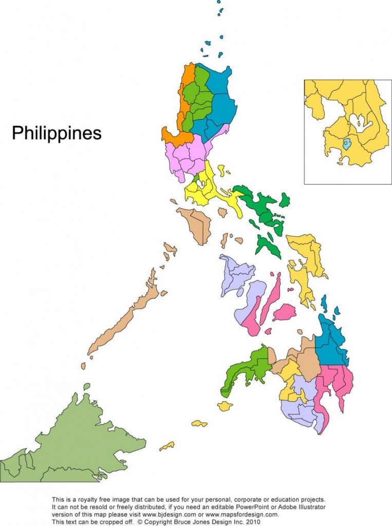 Printable Map Of The Philippines - Free Printable Map Of The - Printable Map Of The Philippines