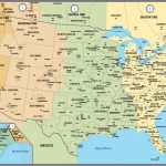 Printable Map Of The Usa With Time Zones   Printable Us Map With Time Zones And Area Codes