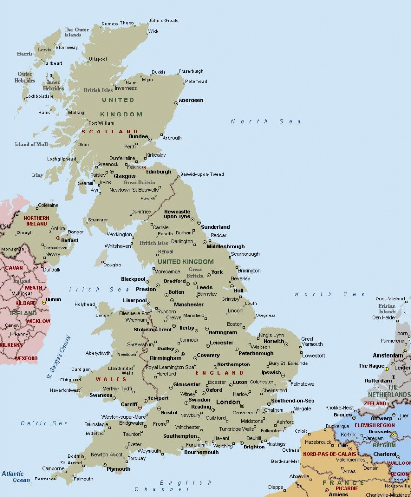 Printable Map Of Uk Towns And Cities - Printable Map Of Uk Counties - Printable Map Of Uk Cities And Counties