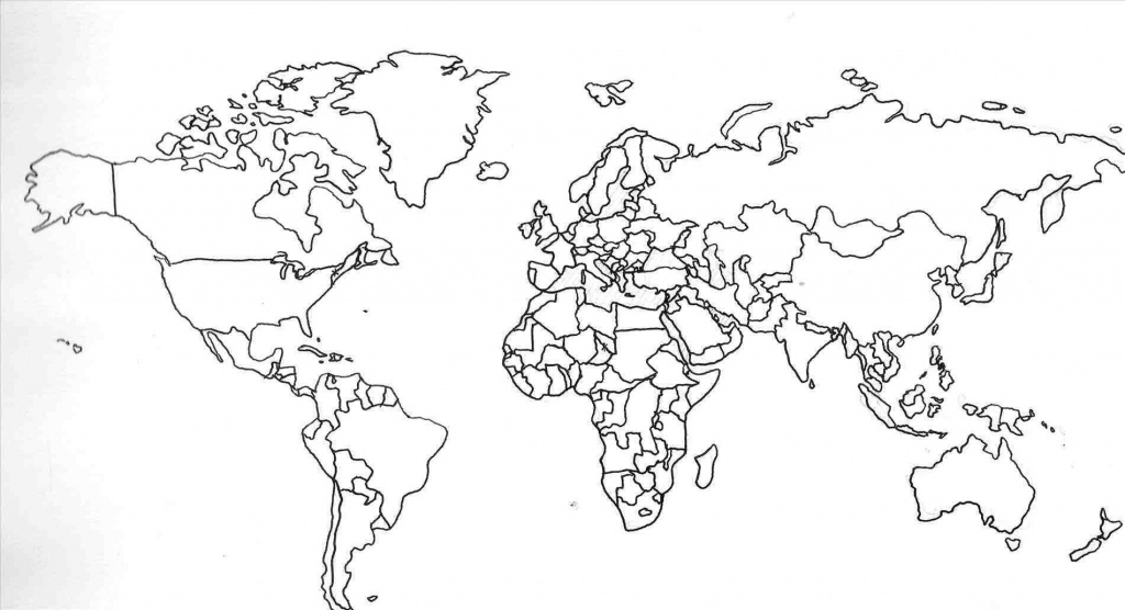 Printable Map Of World With Country Names And Travel Information - World Map Printable With Country Names