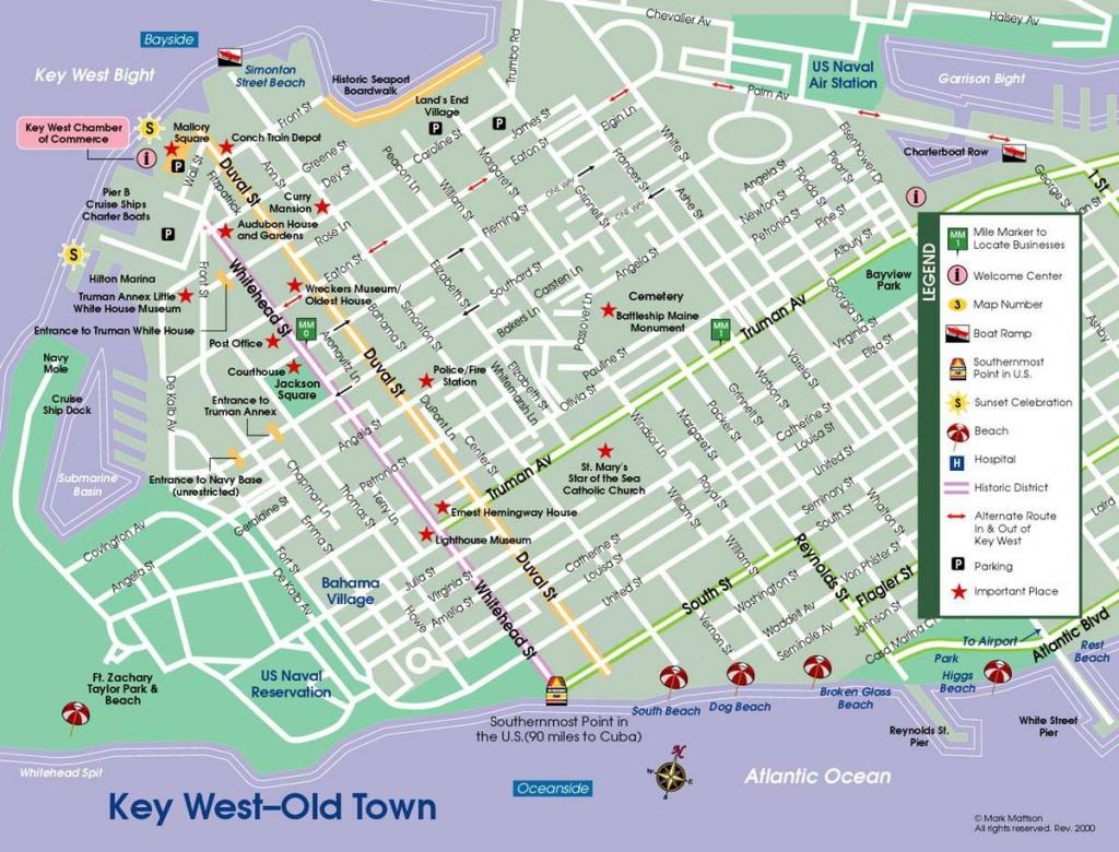 Printable Maps Key West | Download A Printable Pdf Version | Novel - Printable Street Map Of Key West Fl