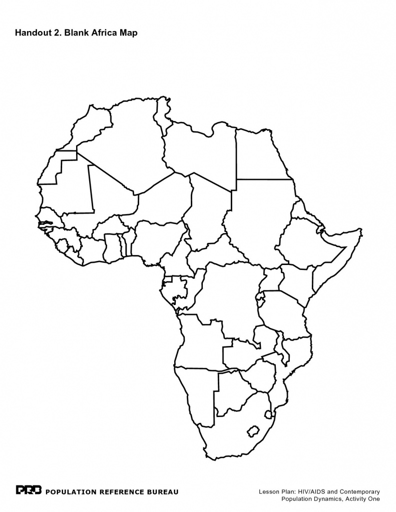 Printable Maps Of Africa - Maplewebandpc - Blank Outline Map Of Africa Printable