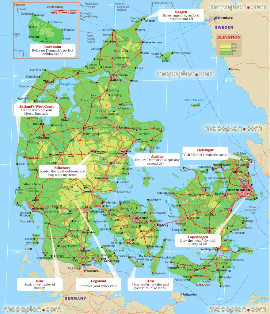 Printable Maps Of Denmark And Travel Information | Download Free - Printable Map Of Denmark