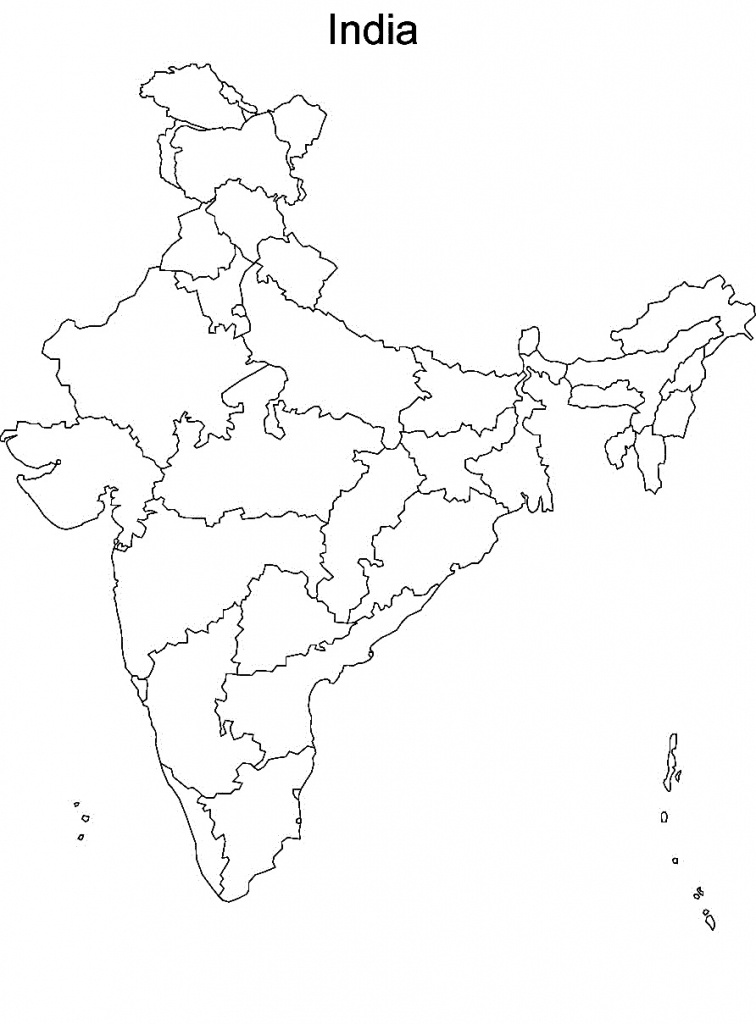 Printable Maps Of India And Travel Information | Download Free - India Political Map Outline Printable