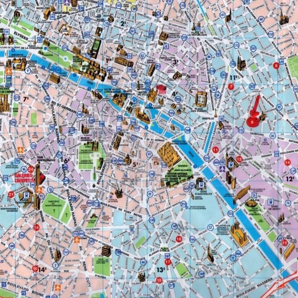 Printable Maps Of Paris 12 Map Com - Paris Map For Tourists Printable