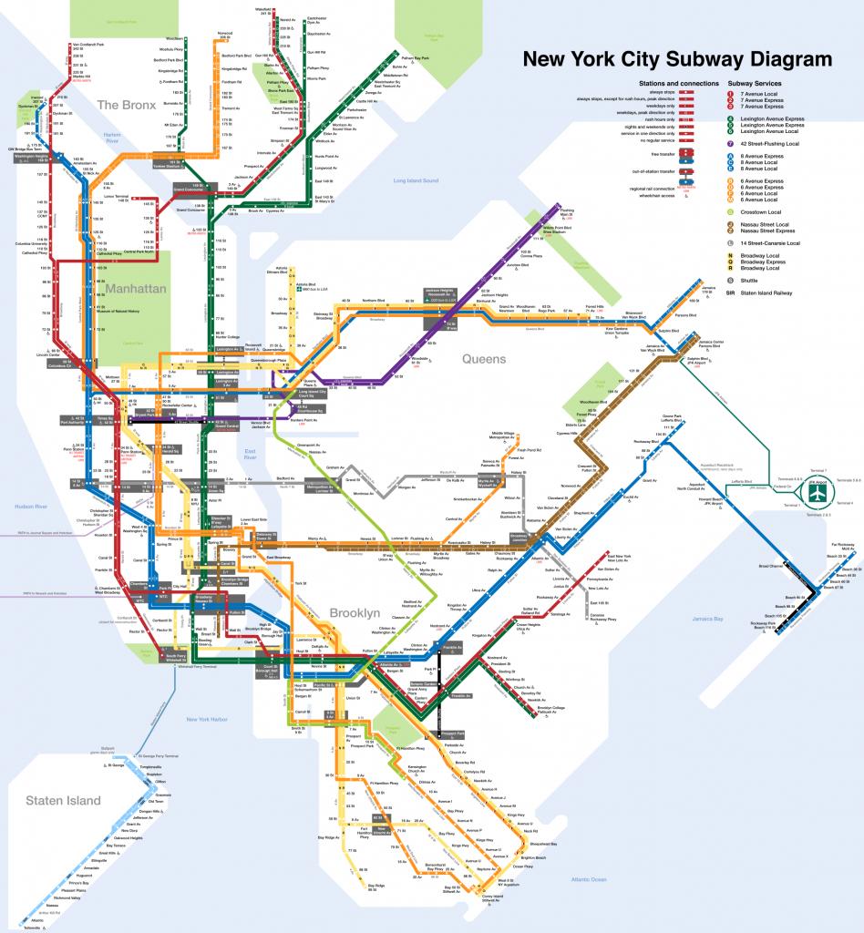 Printable New York City Map | New York City Subway Map Page Below - Manhattan Subway Map Printable