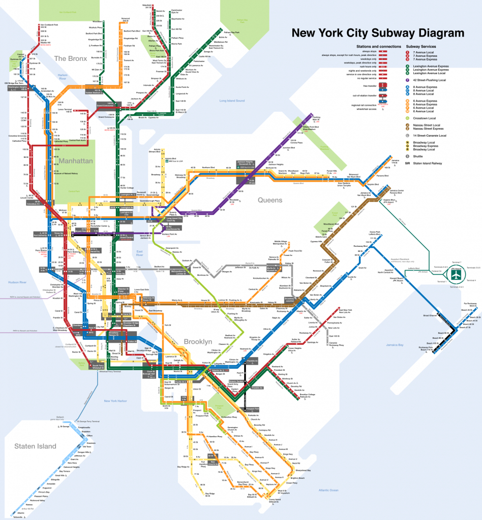 Printable New York City Map | New York City Subway Map Page Below - Nyc Subway Map Manhattan Only Printable