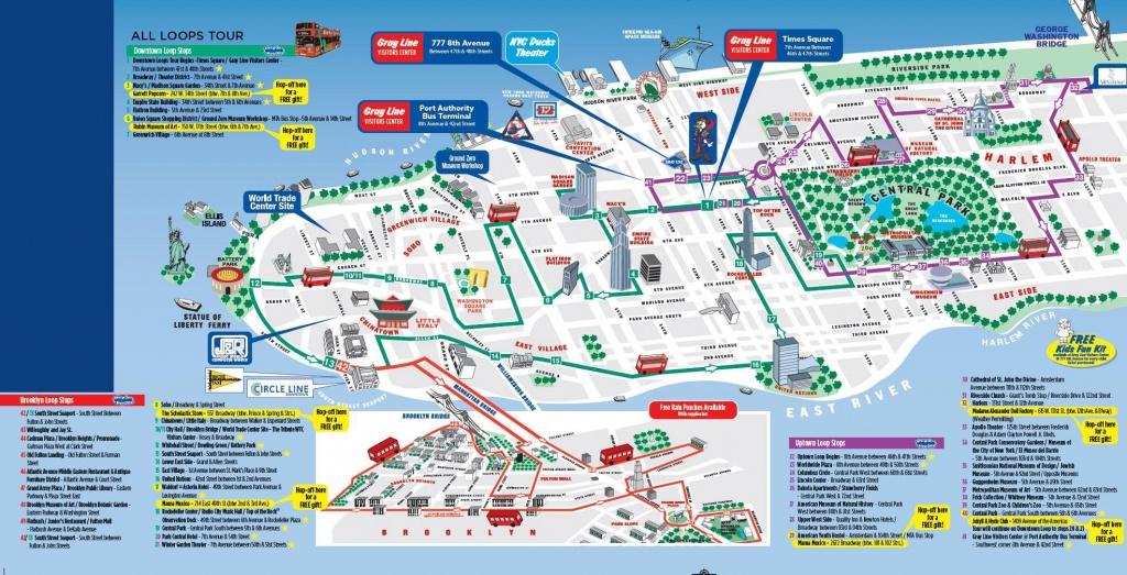 Printable New York City Map | Printable New York City Map Pdf | Nyc - Printable Walking Map Of Midtown Manhattan