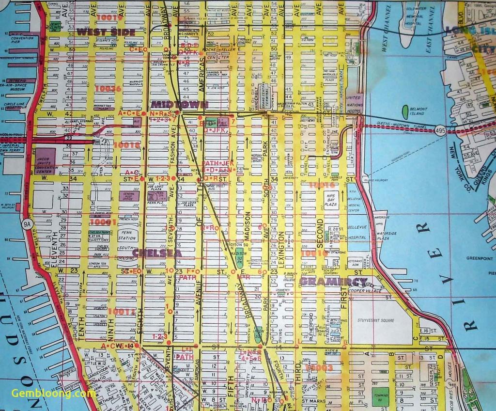Printable New York Street Map - Capitalsource - Printable Street Maps Free