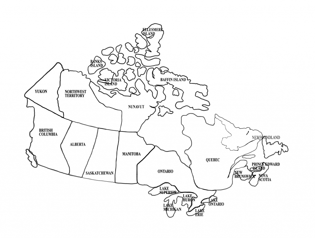 Printable Outline Maps For Kids | Map Of Canada For Kids Printable - Map Of Canada Black And White Printable