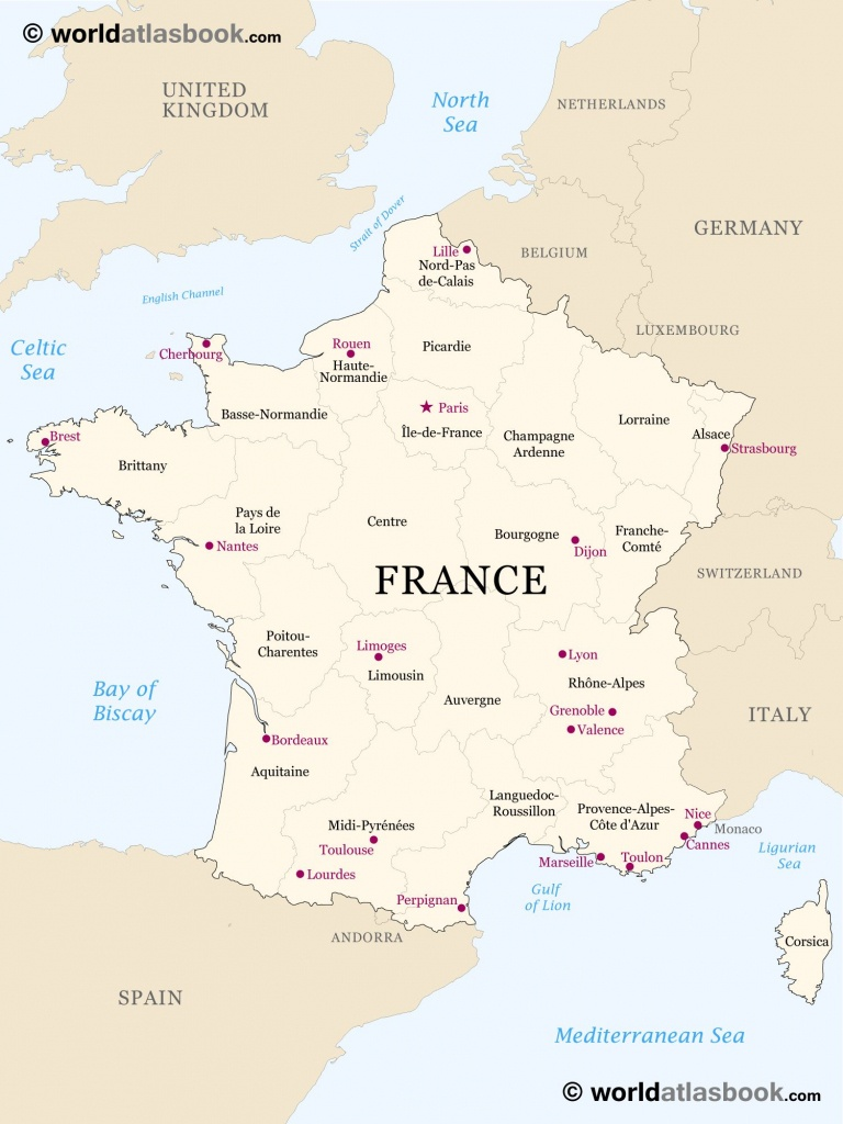 Printable Outline Maps For Kids   Map Of France Outline Blank Map Of - Map Of France Outline Printable