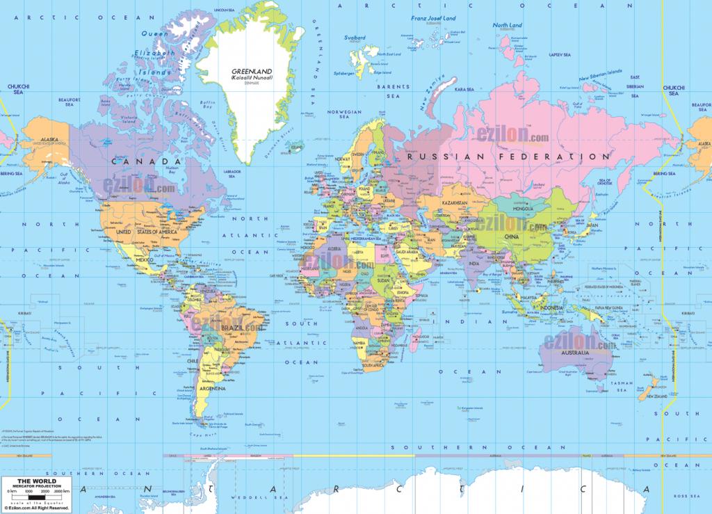 Printable Political World Map Printable Poli | Printables And - World Political Map Printable