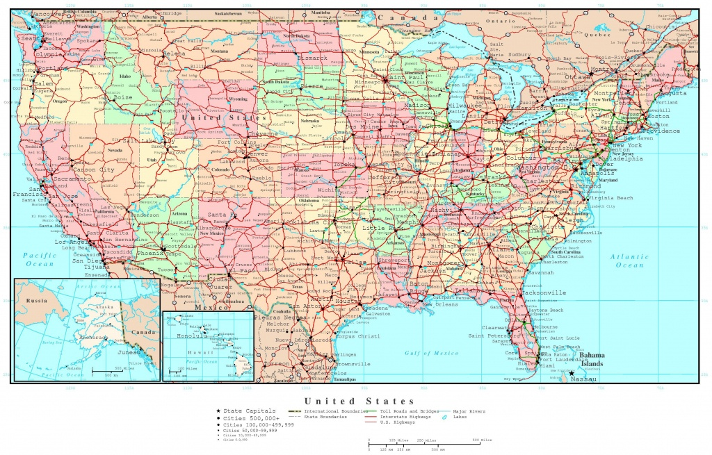 Printable Road Map Of Usa - Maplewebandpc - Printable Road Maps By State