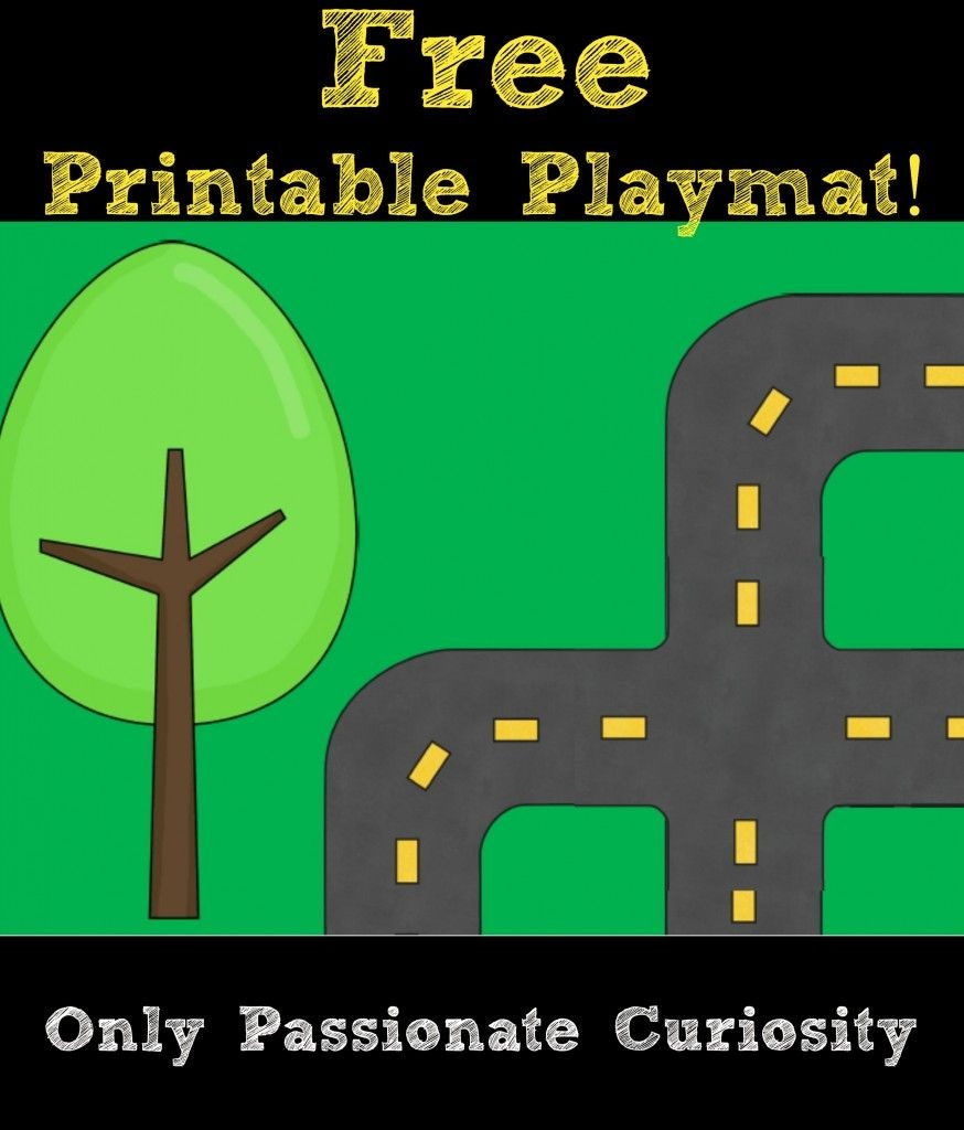 Printable Road Playmat And German Road Signs   Preschool   Community - Free Printable Road Maps For Kids