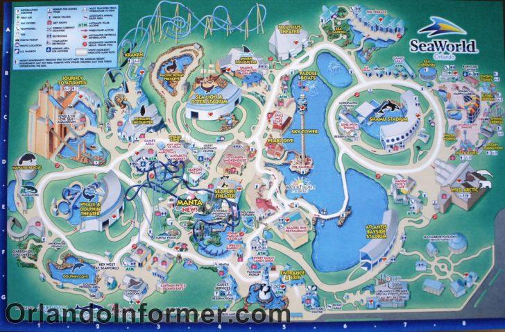 Seaworld Orlando Map 2018 Printable