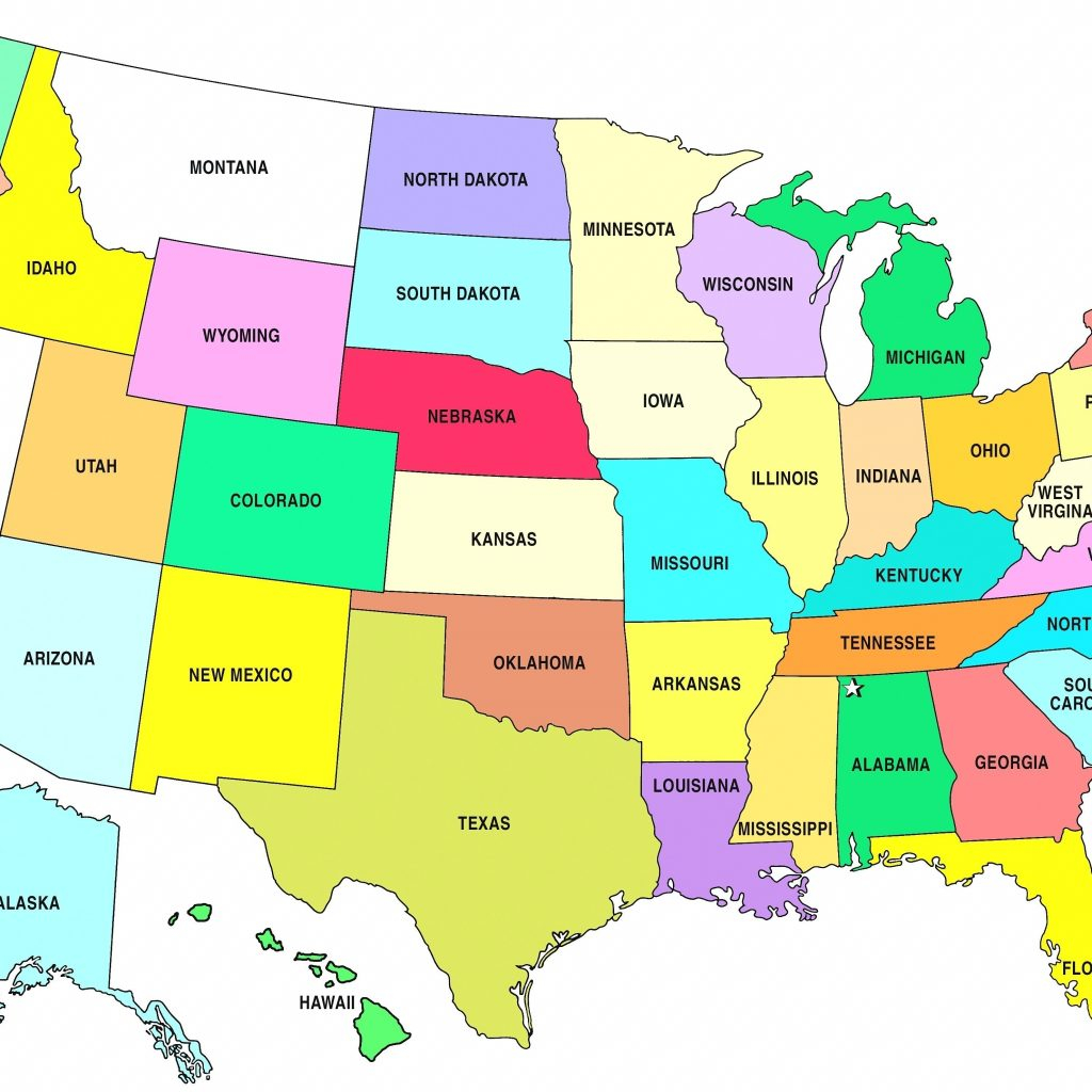 Printable States And Capitals Map Us Quiz Fresh State Usa - Printable States And Capitals Map
