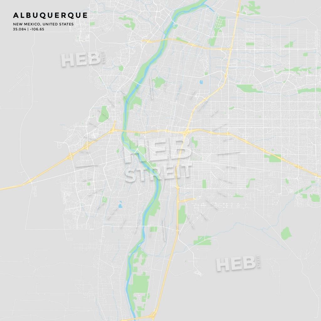 Printable Street Map Of Albuquerque, New Mexico | Hebstreits Sketches - Printable Map Of Albuquerque