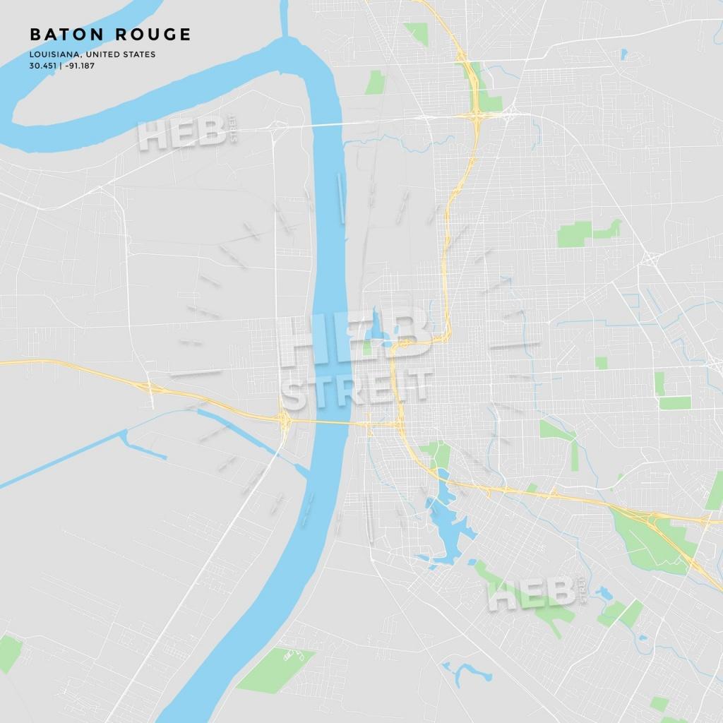 Printable Street Map Of Baton Rouge, Louisiana - Printable Map Of Baton Rouge