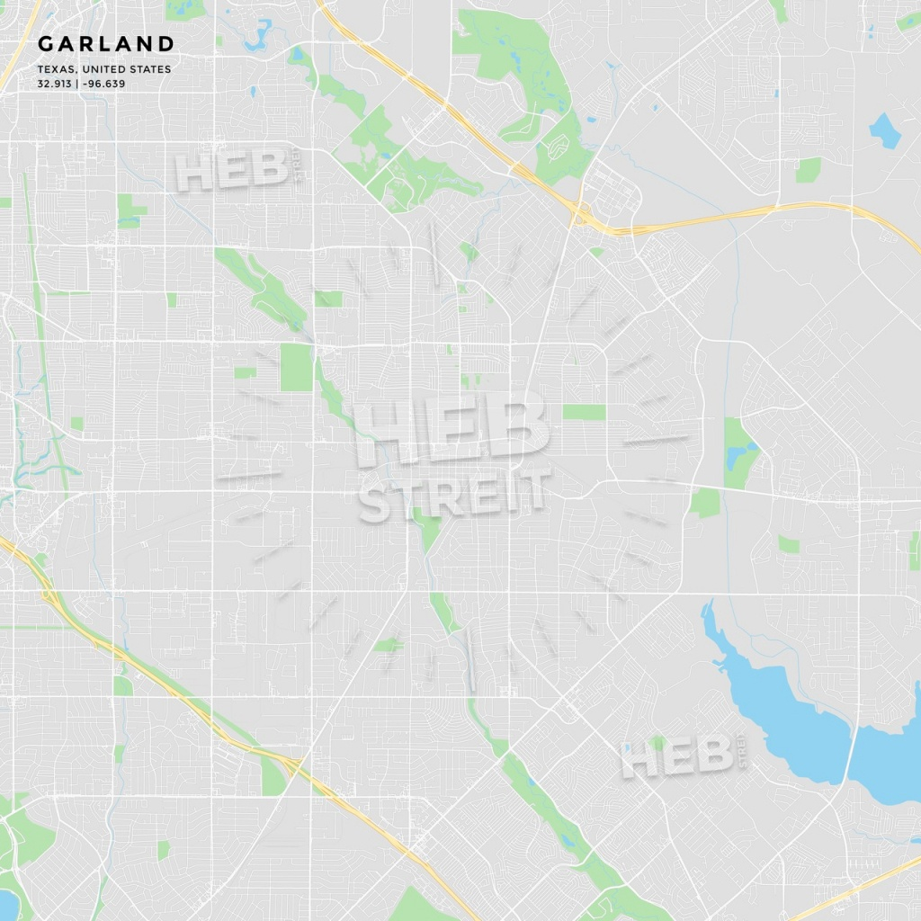 Printable Street Map Of Garland, Texas | Hebstreits Sketches - Garland Texas Map