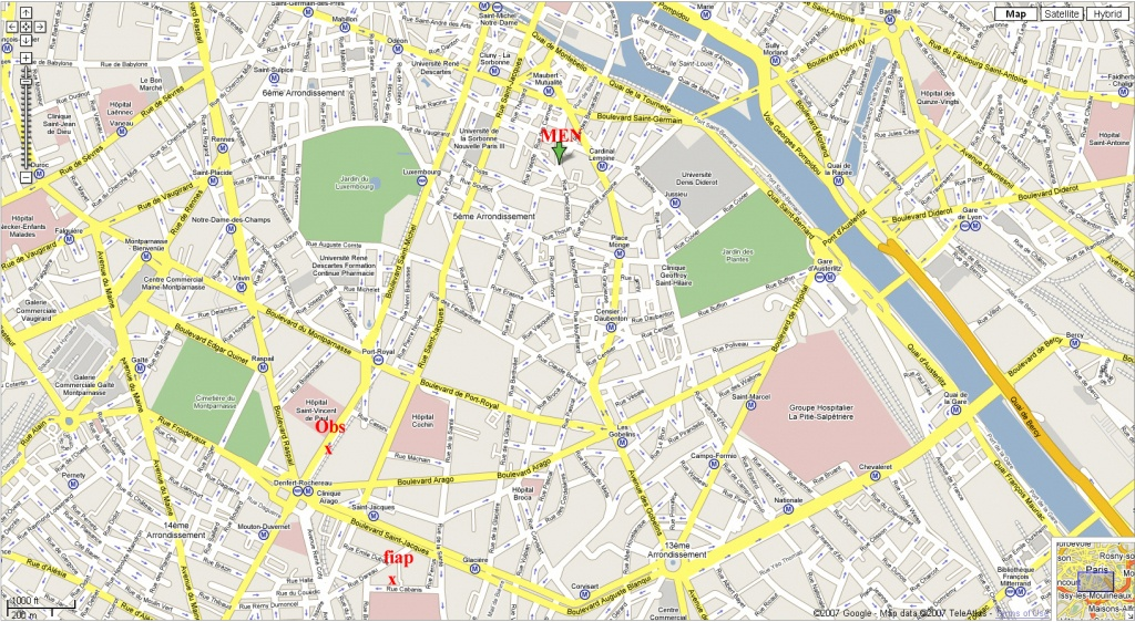 Printable Street Map Of Paris Download Printable Paris Street Map - Street Map Of Paris France Printable