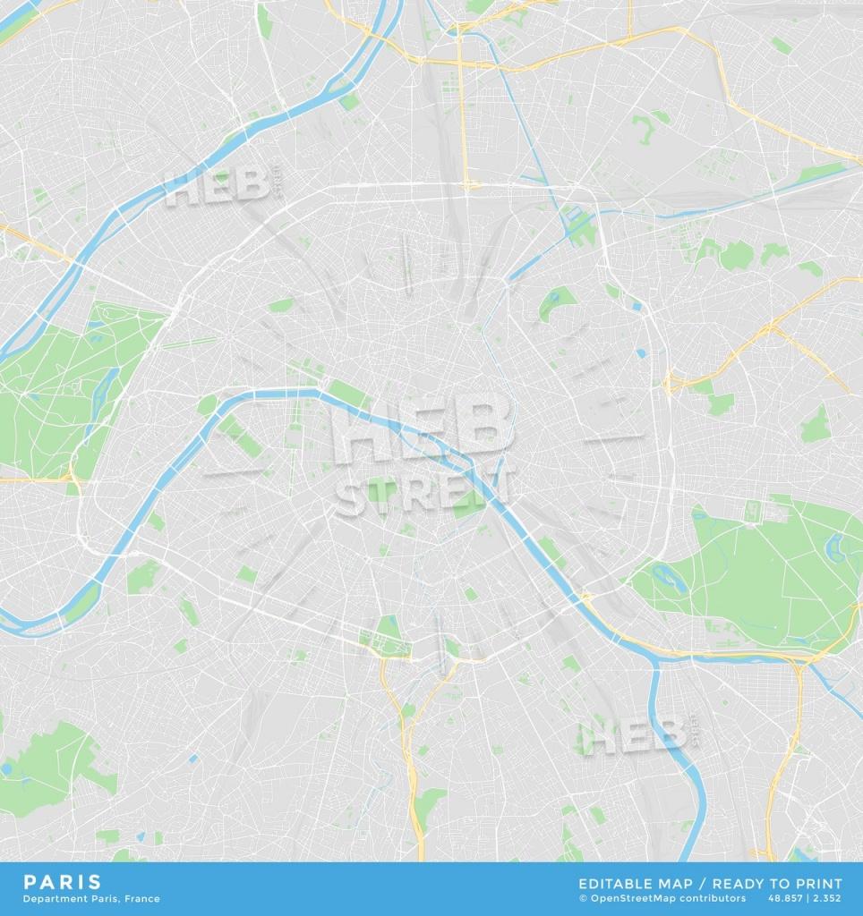 Printable Street Map Of Paris, France | Hebstreits Sketches - Street Map Of Paris France Printable