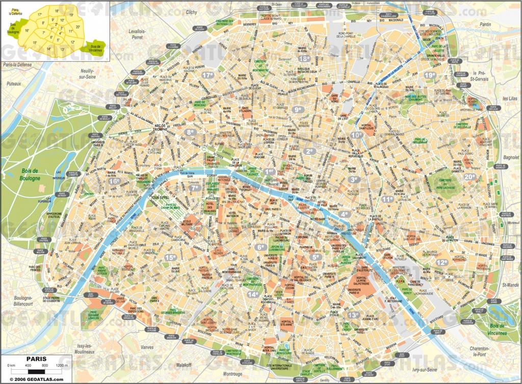 Printable Street Map Of Paris Printable Street Map Paris | Travel - Street Map Of Paris France Printable