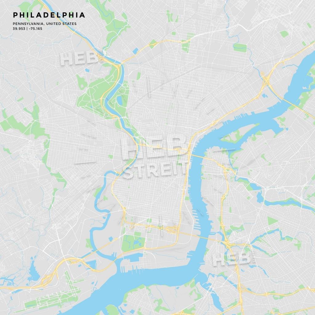 Printable Street Map Of Philadelphia, Pennsylvania | Hebstreits Sketches - Philadelphia Street Map Printable