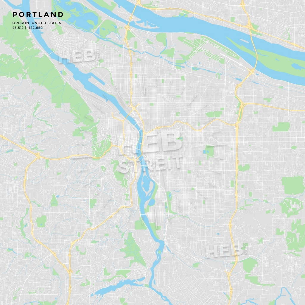 Printable Street Map Of Portland, Oregon | Hebstreits Sketches - Printable Map Of Portland Oregon