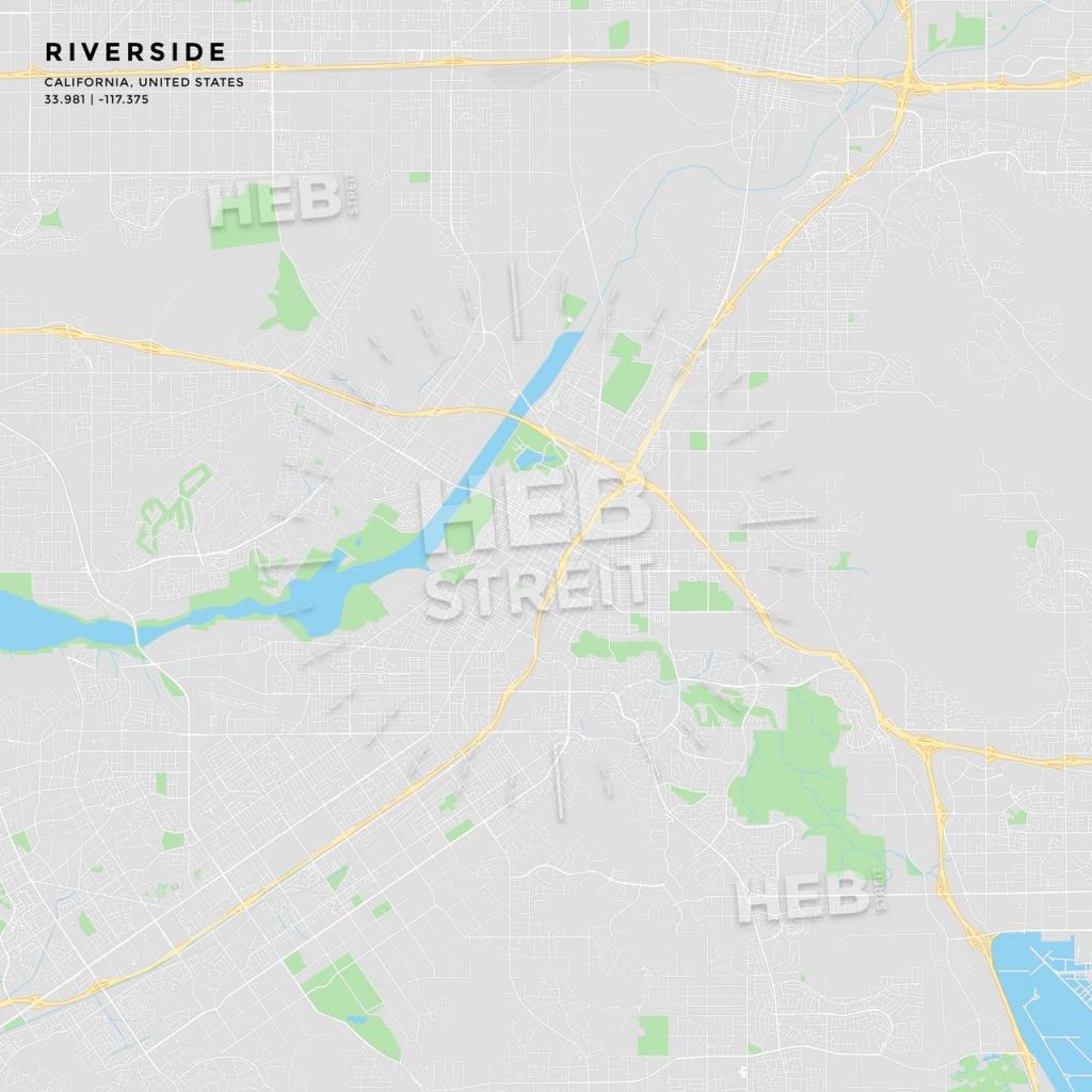 Printable Street Map Of Riverside, California | Hebstreits Sketches - Printable Map Of Riverside Ca