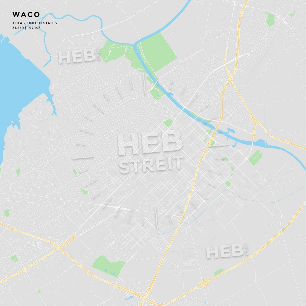Printable Street Map Of Waco, Texas | Hebstreits Sketches - Printable Map Of Waco Texas