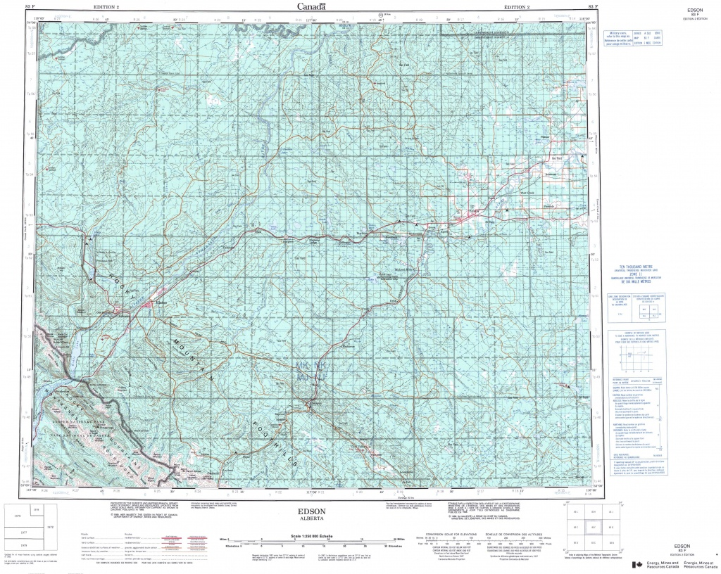Printable Topographic Map Of Edson 083F, Ab - Free Printable Topographic Maps