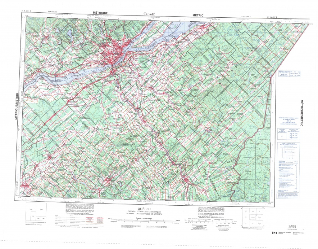 Printable Topographic Map Of Quebec 021L, Qc - Topographic Map Printable