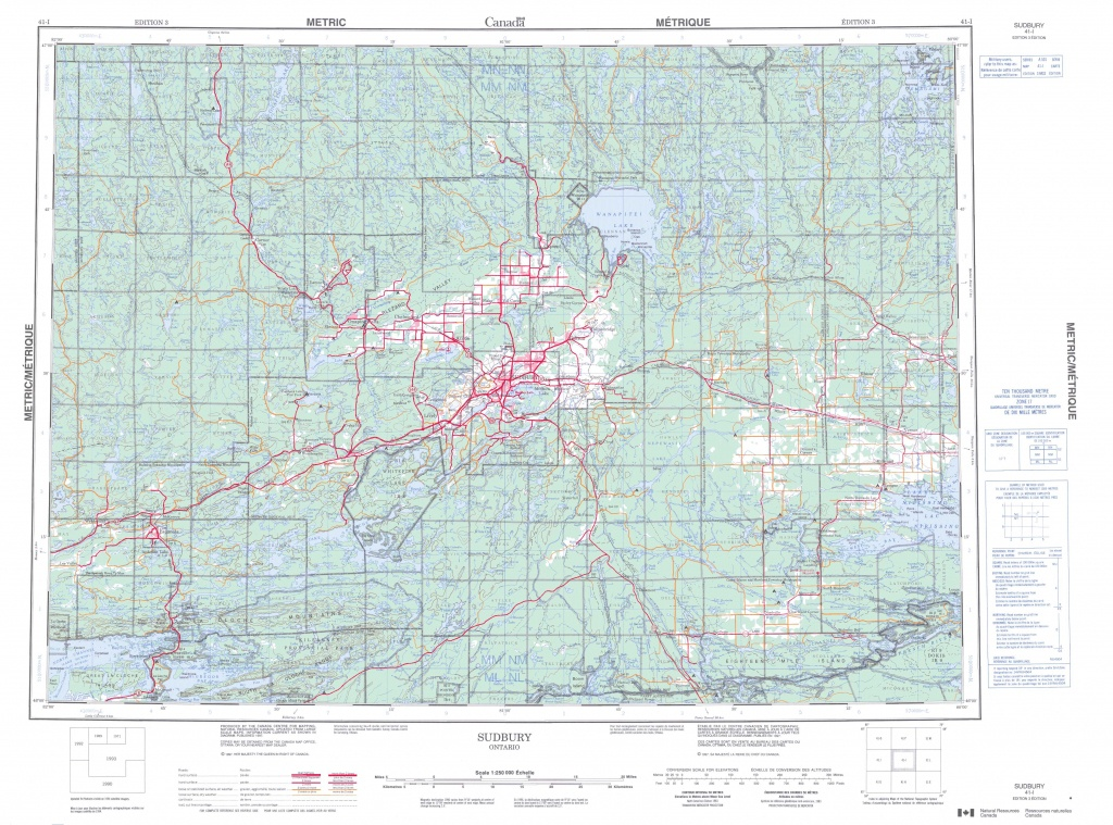 Printable Topographic Map Of Sudbury 041I, On - Free Printable Topo Maps Online